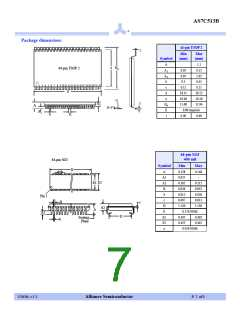 浏览型号AS7C513B-20TC的Datasheet PDF文件第7页