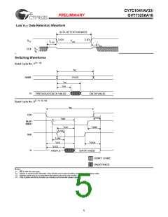浏览型号CY7C1041AV33-12ZC的Datasheet PDF文件第5页
