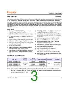 浏览型号HY5DS113222FM-28的Datasheet PDF文件第3页