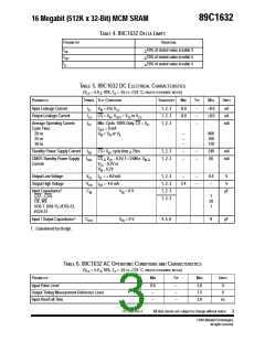 浏览型号89C1632RPQE-20的Datasheet PDF文件第3页