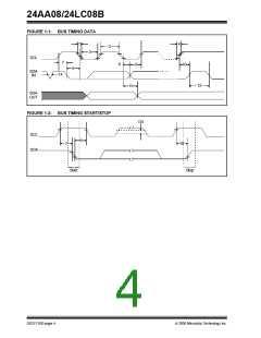 浏览型号24LC08BT-I/SN的Datasheet PDF文件第4页