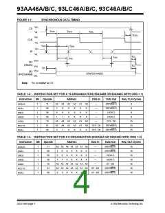 浏览型号93LC46CXT-I/STG的Datasheet PDF文件第4页
