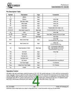 浏览型号GS8330DW72C-250的Datasheet PDF文件第4页