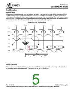 浏览型号GS8330DW72C-250的Datasheet PDF文件第5页