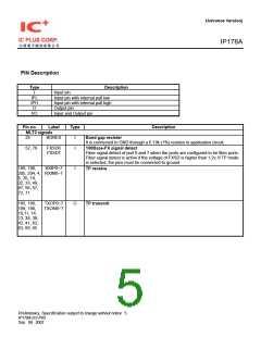 浏览型号IP178A的Datasheet PDF文件第5页