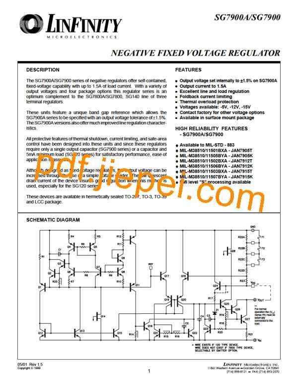 SG7905AIG/883B PDF预览