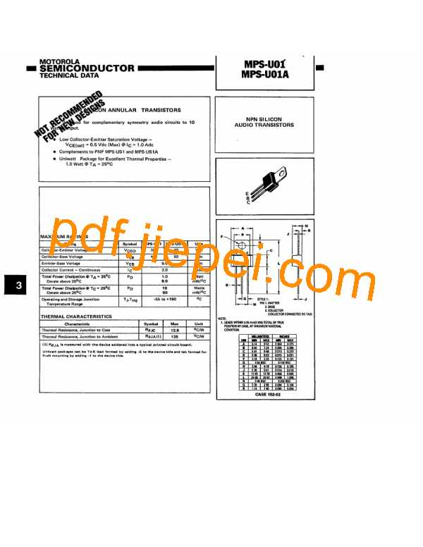 MPSU01A PDF预览