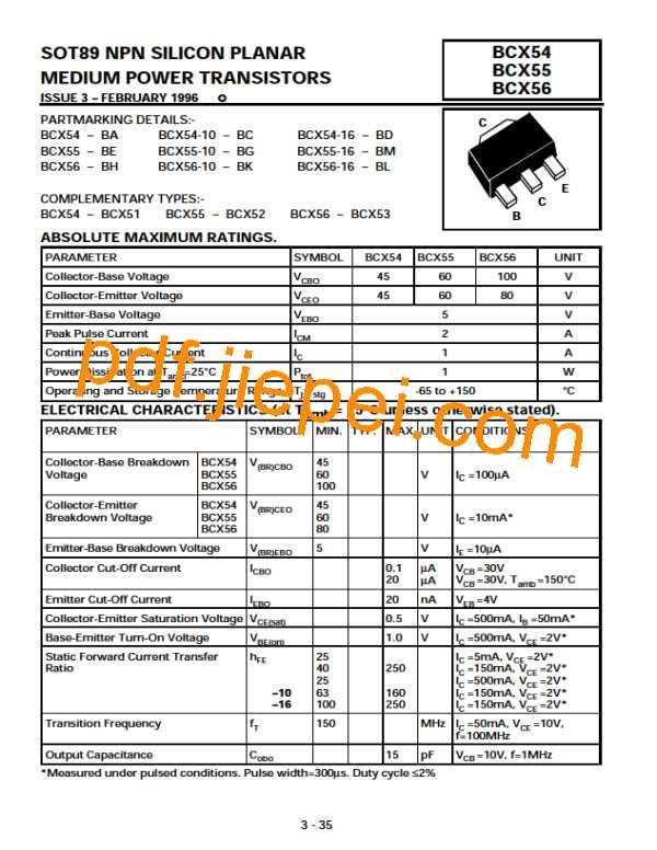 BCX56-BH PDF预览
