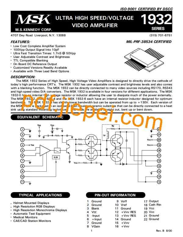 MSK1932U-6 PDF预览