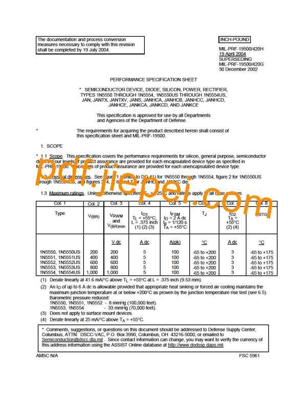 1N5553 PDF预览