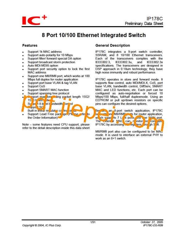 IP178CH PDF预览