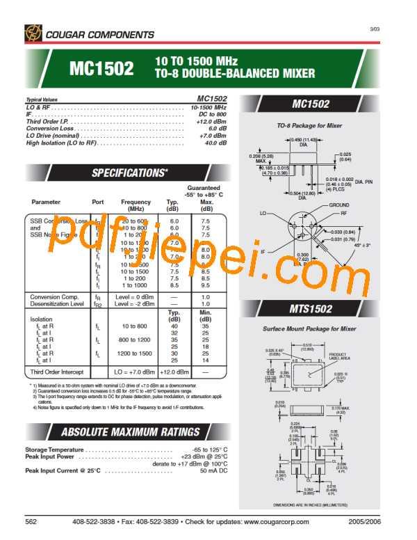 MC1502 PDF预览
