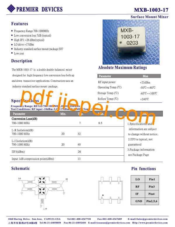 MXB-1003-17 PDF预览