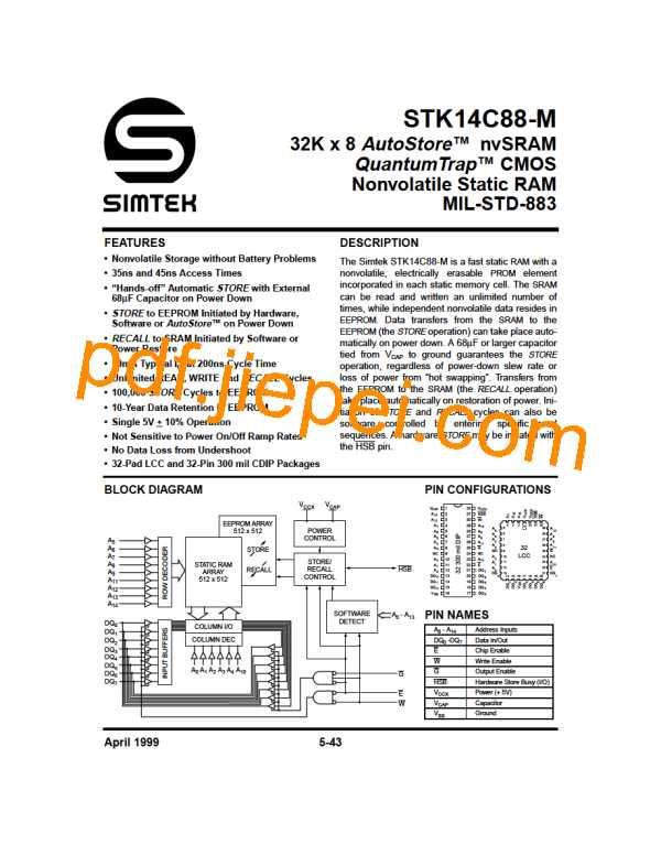 STK14C88-5L35M PDF预览