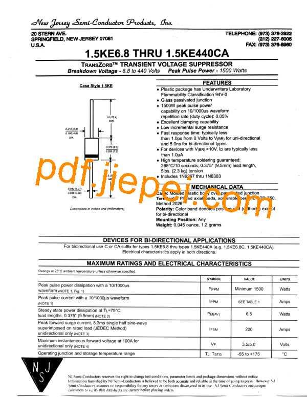 1.5KE15A PDF预览