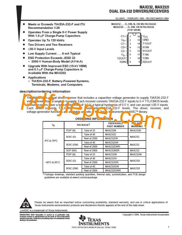 MAX232 PDF预览