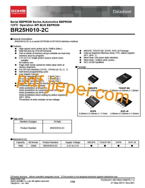 BR25H010FVM-2CTR PDF预览